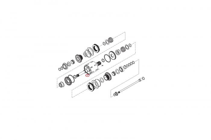 Splint buldoexcavator Komatsu-CARRARO 1
