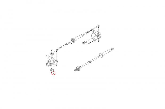 Surub buldoexcavator Volvo-CARRARO 1