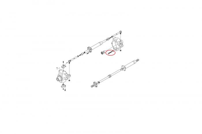 Surub buldoexcavator Komatsu-CARRARO 1
