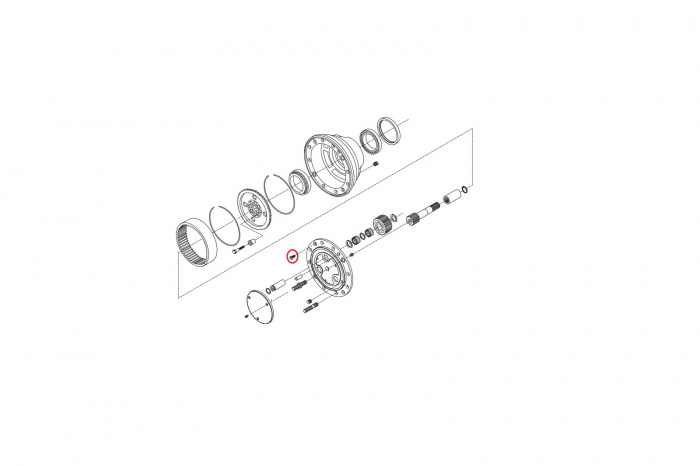 Surub transmisie finala M12X30 10.9 buldoexcavator Komatsu-CARRARO [1]