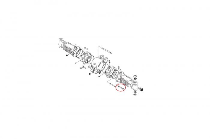 Surub M14X140 buldoexcavator Komatsu-CARRARO 1