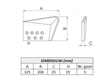 Coltar buldozer 14Y7111340-ITR1