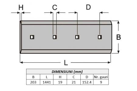 Lama de uzura 4T3004-AROX1