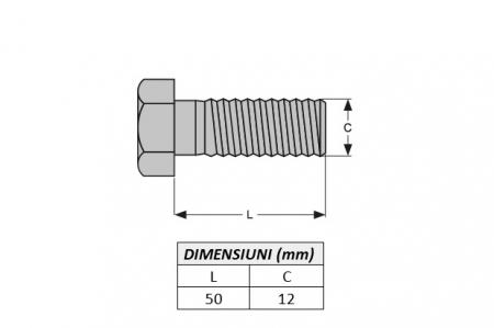 Surub fixare dinte miniexcavator E600.1B-ITR1