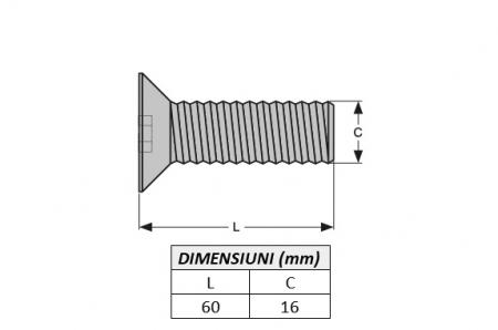 Surub fixare dinte miniexcavator E616.2B-ITR1