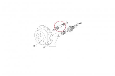Ax planetar buldoexcavator Volvo-CARRARO [1]