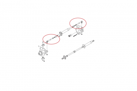 Capat de bara complet buldoexcavator Komatsu-CARRARO [1]