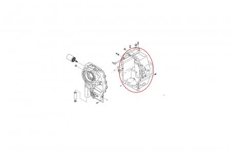 Carcasa spate cutie viteza buldoexcavator Komatsu-CARRARO1
