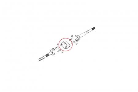 Corp central (homocinetica) planetara buldoexcavator Komatsu-CARRARO1