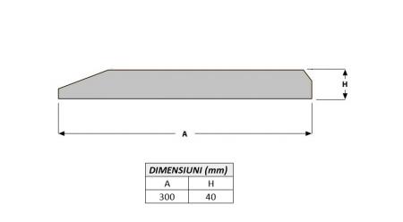 Cutit brut 300X40X1000-AROX [1]