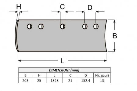 Lama de uzura 4T2231-ITR1