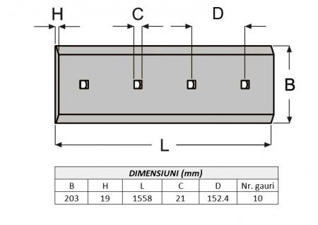 Lama de uzura 4T2315-AROX1