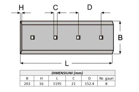 Lama de uzura 4T8940-ITR1