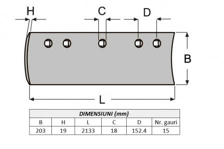 Lama de uzura 5D9559-ITR1