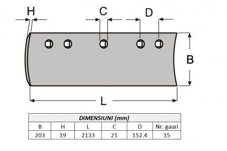 Lama de uzura 7D1577C-AROX1