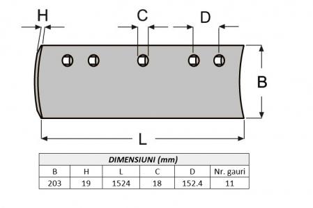 Lama de uzura 9W6252-ITR1