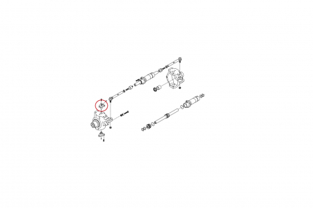 Pivot superior buldoexcavator Komatsu-CARRARO1