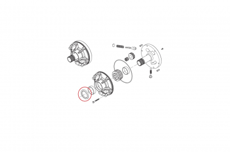 Simering pompa transmisie buldoexcavator Komatsu-CARRARO1