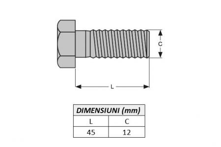Surub fixare dinte miniexcavator U20018-ITR1