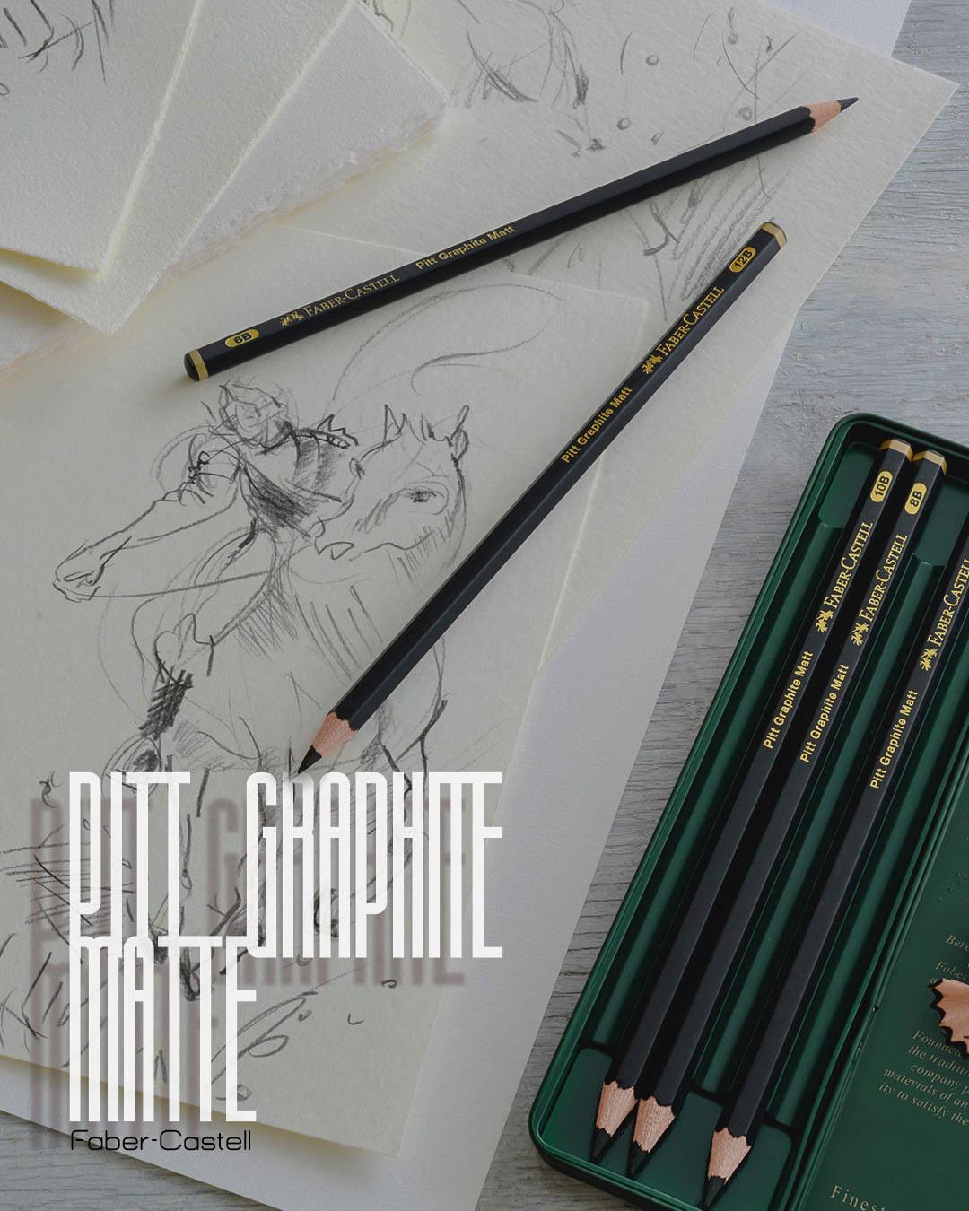 Creioane Pitt Grafit Mate Faber-Castell