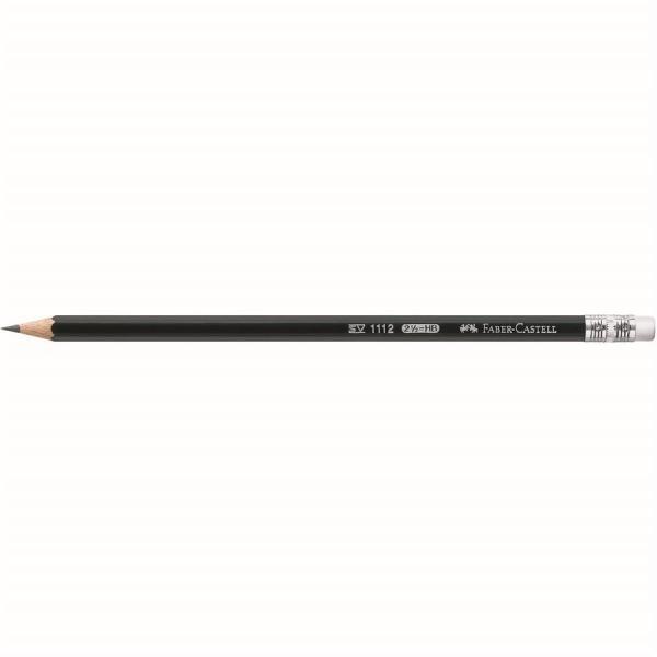 Creion Grafit Cu Guma 1112 HB Faber-Castell 1