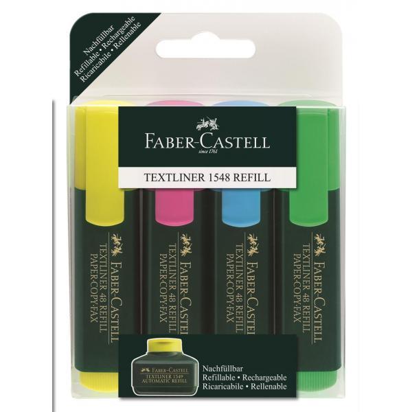 Set 4 culori Textmarker 1548  Faber-Castell 0