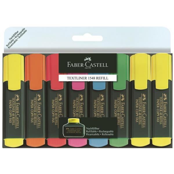 Set 8 culori Textmarker 1548  Faber-Castell 0