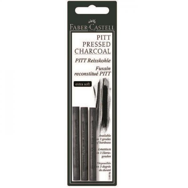 Carbune Presat Pitt Monochrome 3 buc mediu Faber-Castell 0