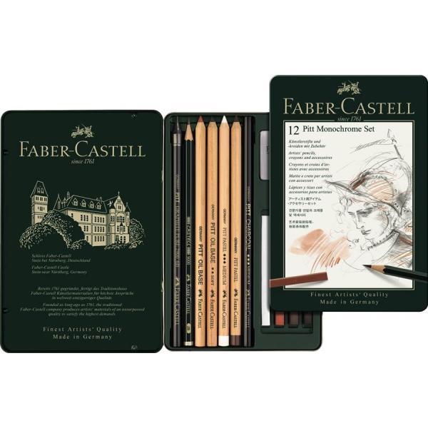 Set Pitt Monochrome 12 Buc Nou Faber-Castell 0