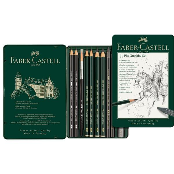 Set Pitt Monochrome Grafit 11 Buc Faber-Castell [1]