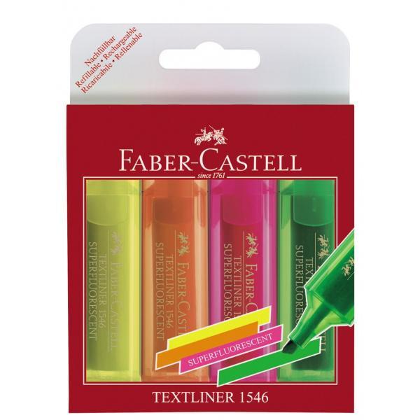 Set 4 culori Textmarker Superfluorescent 1546 Faber-Castell 0