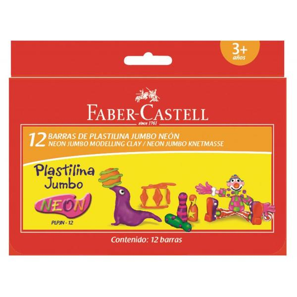 Plastilina 12 Culori Neon 160g Faber-Castell 0