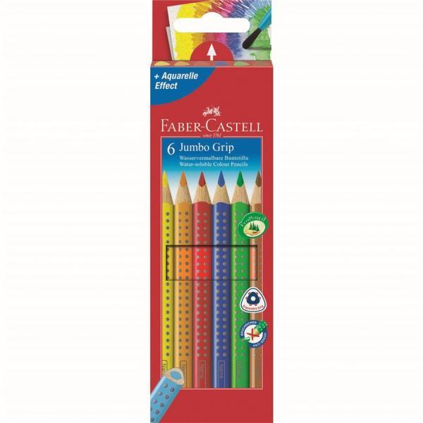 Set 6 culori Creioane Colorate Jumbo Grip Faber-Castell 0