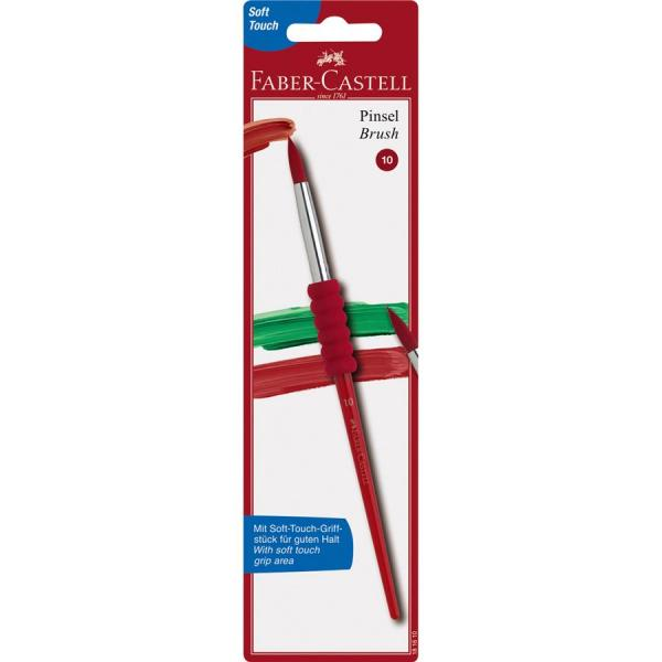 Pensula Soft Touch nr.10, rosie, varf rotund Faber-Castell [0]