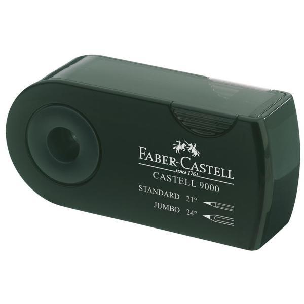 Ascutitoare Plastic Dubla Sleeve Verde Faber-Castell 0
