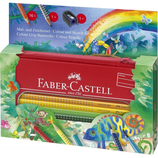 Set Cadou Desen si Pictura Colour Grip Jungle Faber-Castell 0