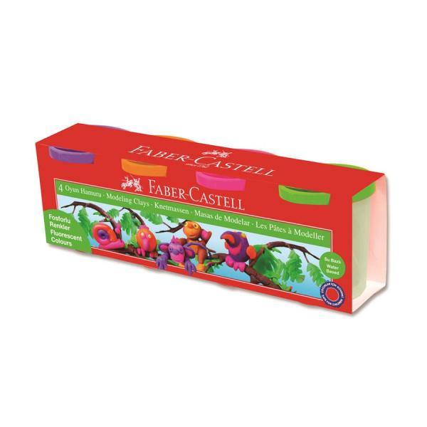 Plastilina 4x130g Culori Neon Faber-Castell 0