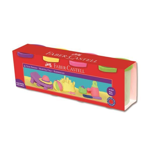 Plastina 4x130g Culori Pastel Faber-Castell [0]