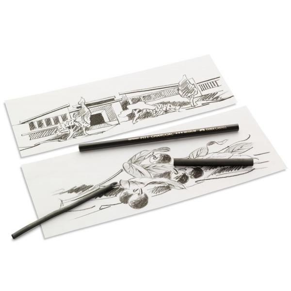 Carbune Presat Pitt Monochrome Faber-Castell (5 grade de duritate) 1