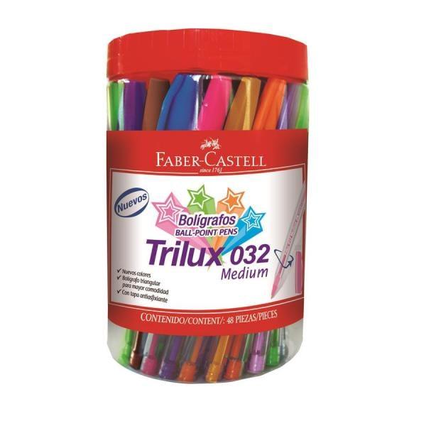 Pix Unica Folosinta Trilux 032M Borcan Plastic 48 Buc Div Culori Faber-Castell [0]