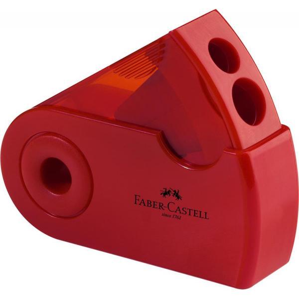 Ascutitoare Plastic Dubla Sleeve rosu/albastru Faber-Castell 1