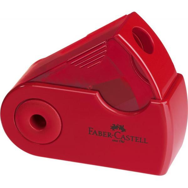 Ascutitoare Plastic Simpla Sleeve-Mini Rosu/Albastru Faber-Castell 0