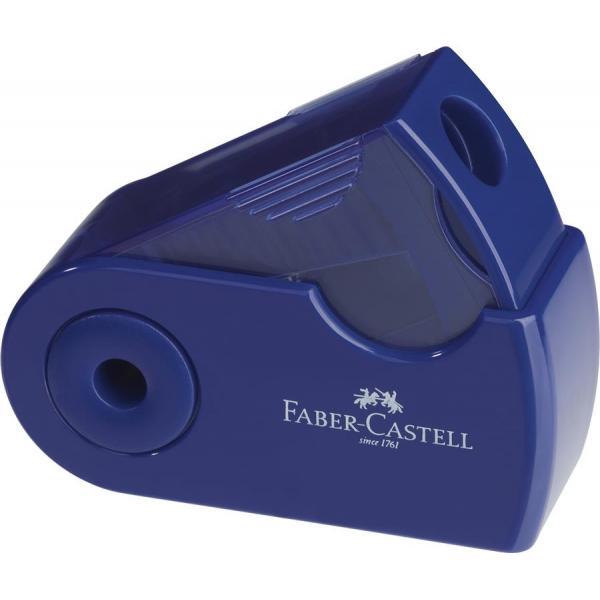 Ascutitoare Plastic Simpla Sleeve-Mini Rosu/Albastru Faber-Castell 1