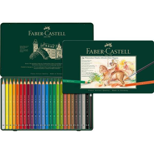 Creioane Colorate 24 Culori A.Durer Magnus Cutie Metal Faber-Castell 0