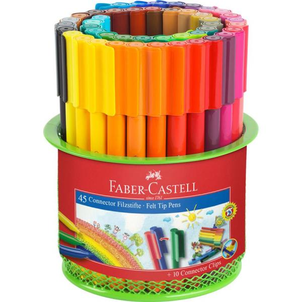 Carioca 45 Culori Connector in Suport Mesh Faber-Castell 0