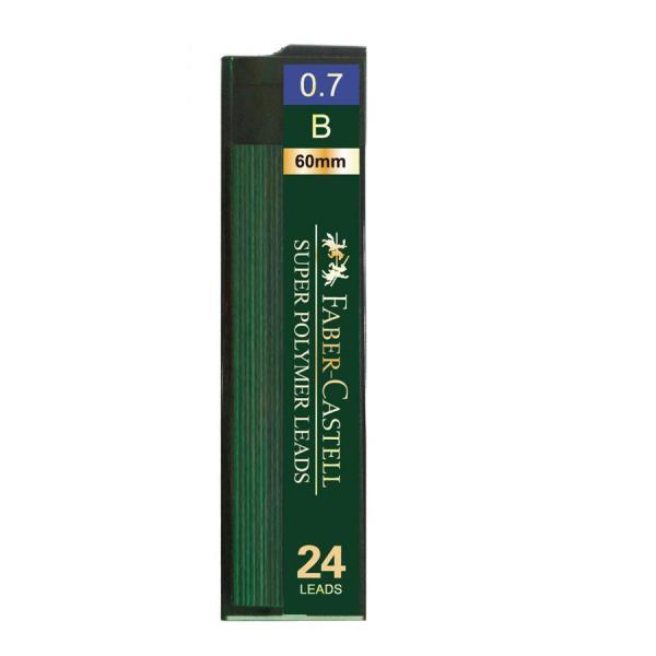 Mina Creion 0.7mm 24 Buc/Etui Super Hi-Polymer Faber-Castell 0