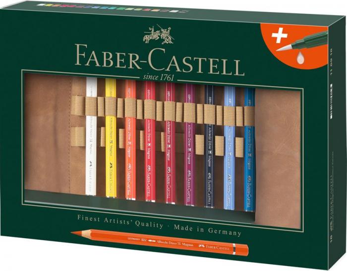 Rollup 18 Creioane Colorate A.Durer Magnus+Accesorii Faber-Castell 0