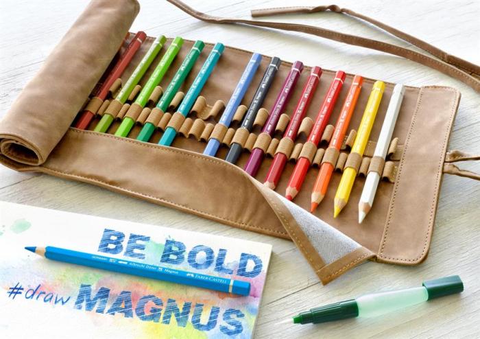 Rollup 18 Creioane Colorate A.Durer Magnus+Accesorii Faber-Castell 1