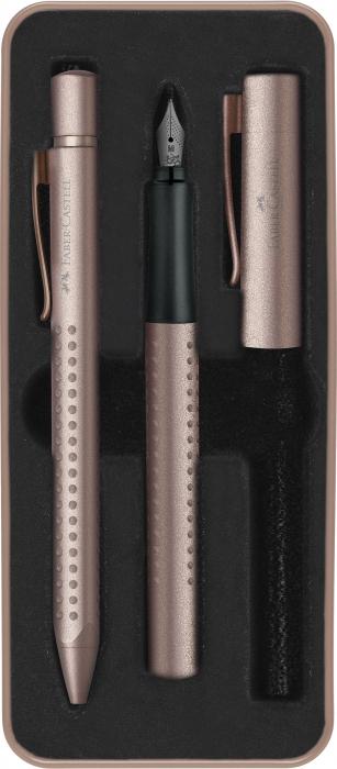Set Cadou Stilou si Pix Grip 2011 Rose Cupru Faber-Castell [0]