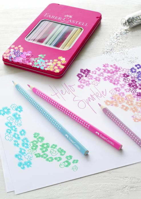 Set 12 Creioane colorate Sparkle Faber-Castell 1
